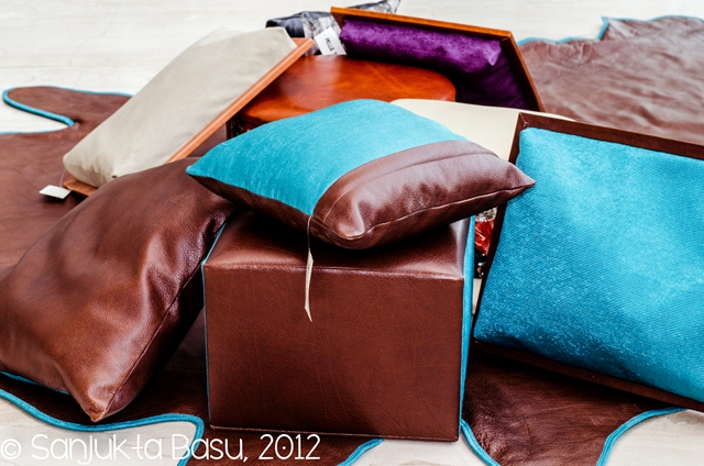 whole hide pillow covers, product photography, commercial photography, sanjukta basu