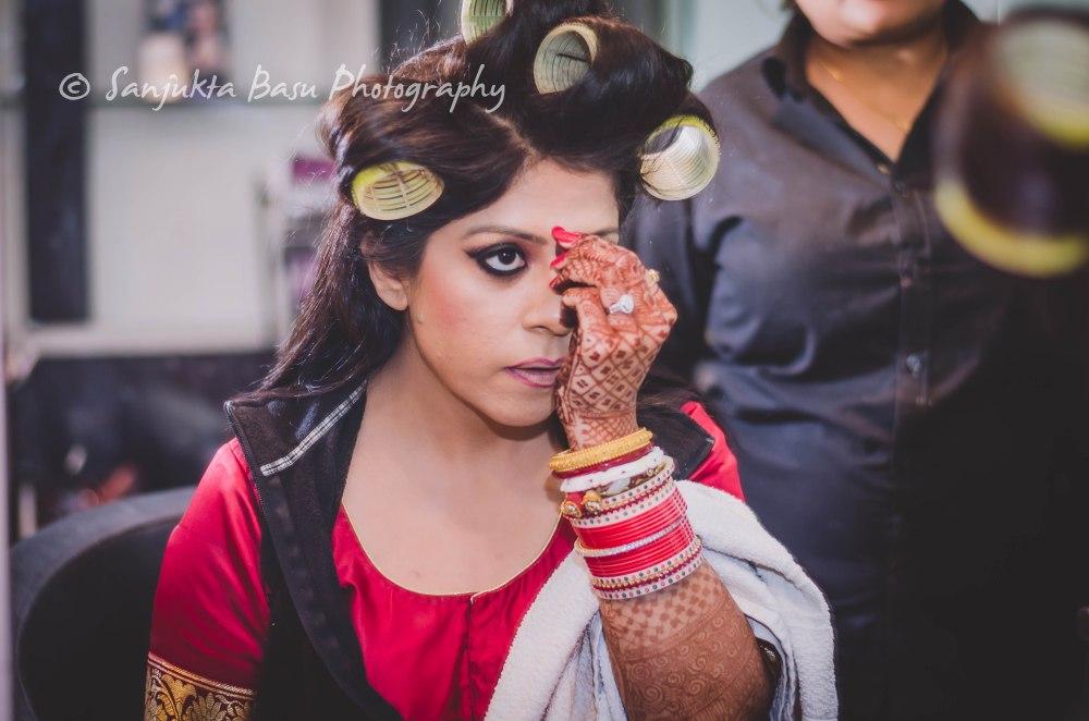 bridal makeup shot