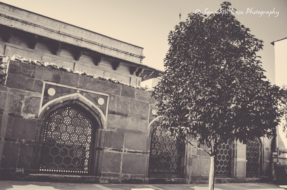 wall-outside-chausath-khamba-nizamuddin-basti