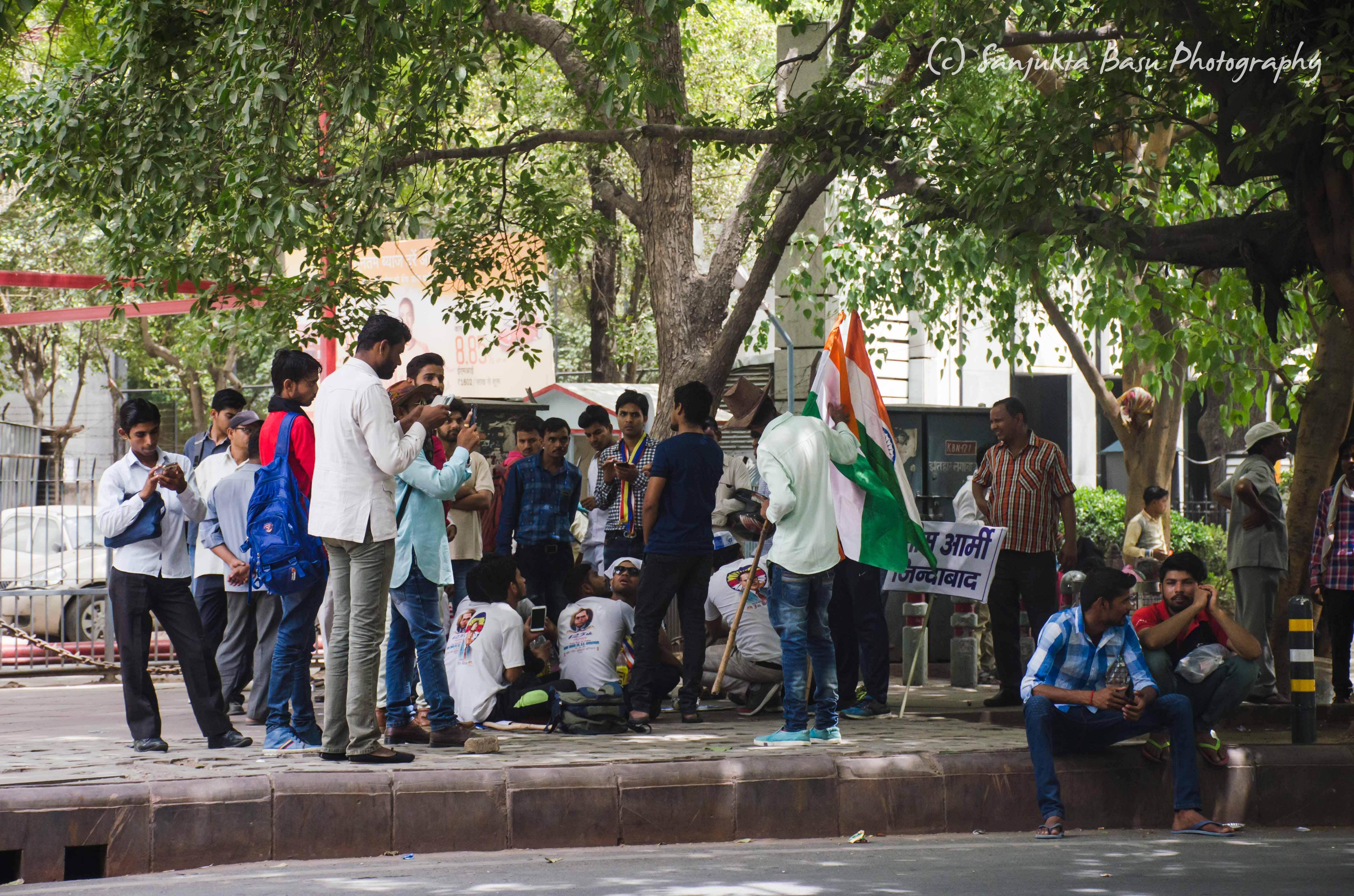 Bhim Army protest at Jantar Mantar Delhi low res-1