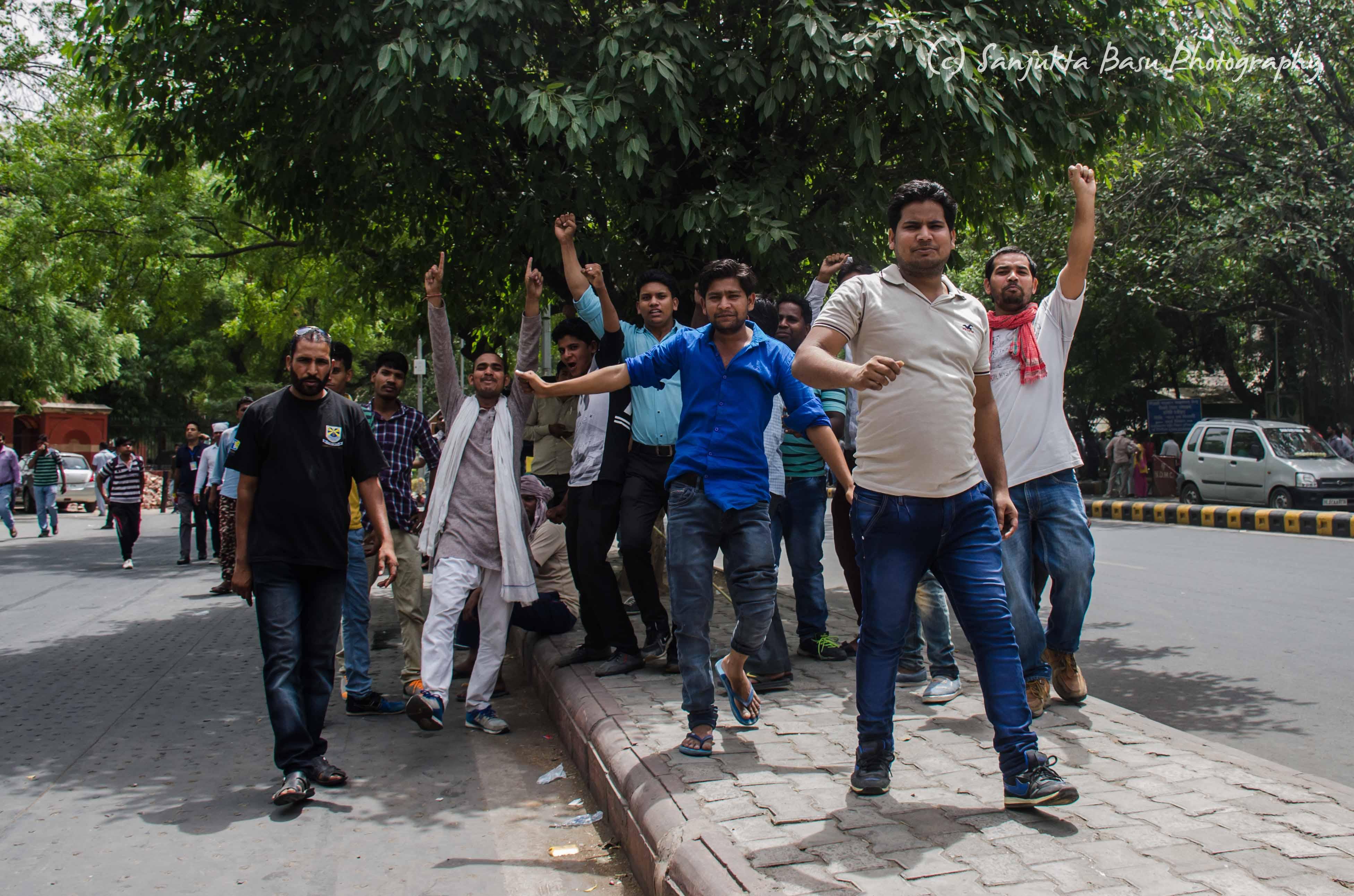 Bhim Army protest at Jantar Mantar Delhi low res-2