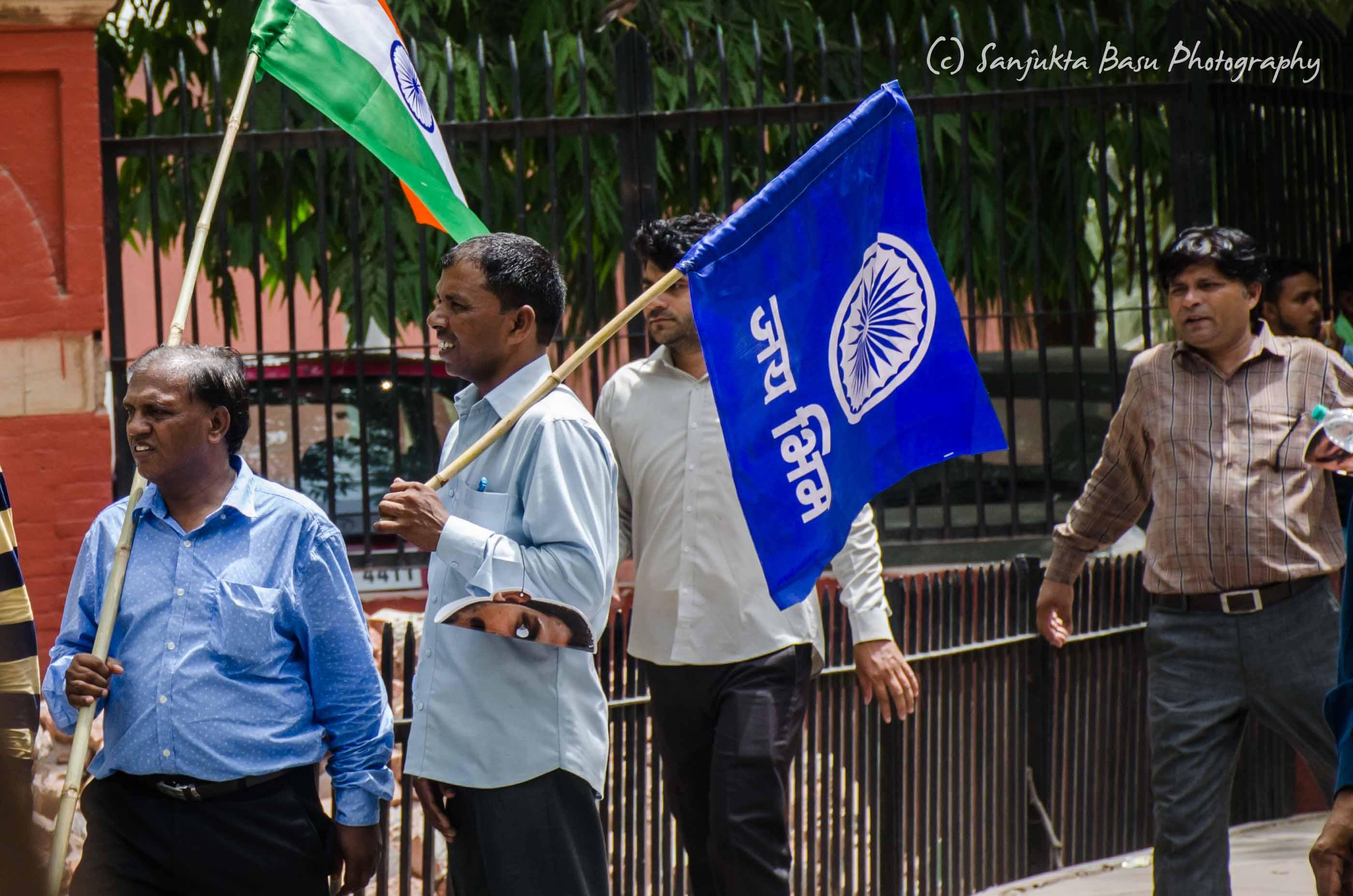 Bhim Army protest at Jantar Mantar Delhi low res-3