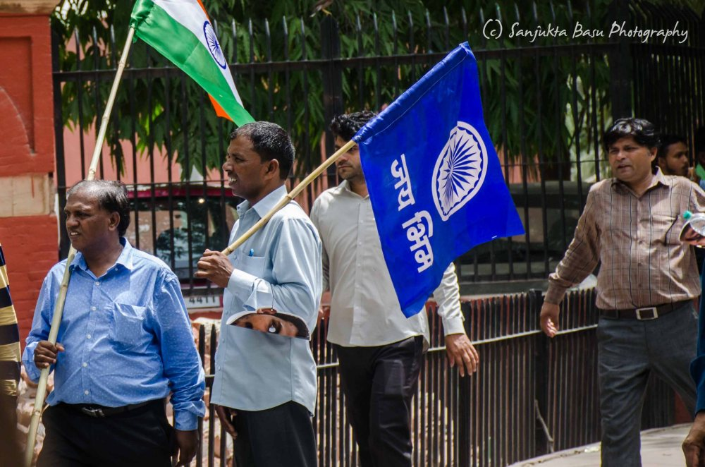 Bhim Army protest at Jantar Mantar Delhi low res-3