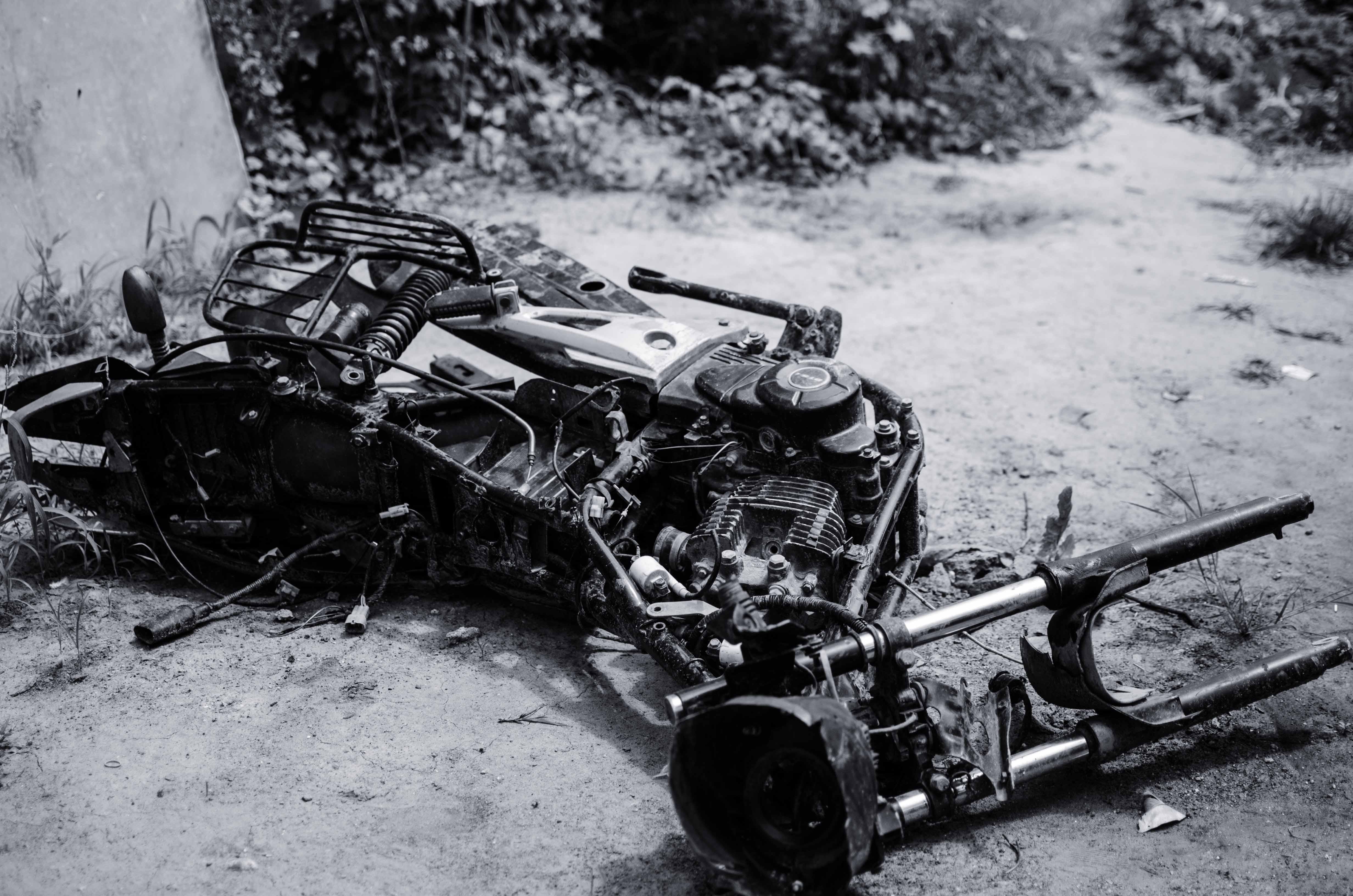 bike burnt down in vadavli riot